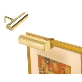 "Concept 7 3/4"" Wide Polished Brass Cordless Picture Light   #68660"