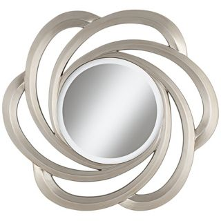 "Cosmo 32"" Round Silver Wall Mirror   #W4271"