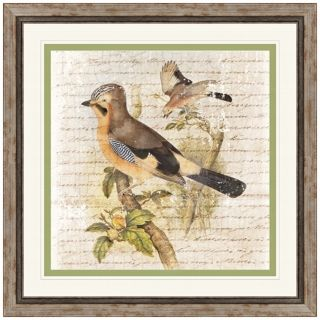 "Flock of Two I 23"" Square Framed Bird Wall Art   #X2152"