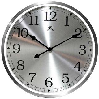 """Luminous 23 1/2"""" Round Aluminum Framed Wall Clock   #W0999"""