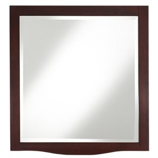 "Espresso 32"" High Wood Wall Mirror   #U0079"