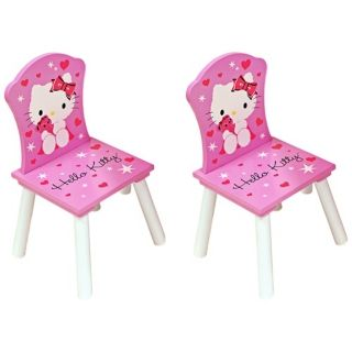 Set of 2 Hello Kitty Pink Kids Chairs   #W6826