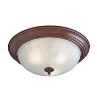 "Melon 15"" Wide Bronze ENERGY STAR Ceiling Light Fixture   #26874"