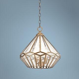 "Marilyn Inverted Diamond 14"" Wide Brass Mini Pendant Light   #W3301"