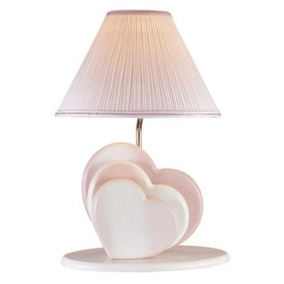 Lite Source Soft Pink Love Hearts Night Light Table Lamp   #80150