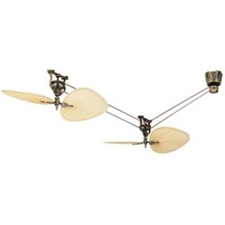 Fanimation Brewmaster Antique Brass  Belt Drive Ceiling Fan   #N1893