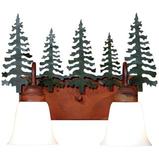 "Wasatch Collection Cedar 16"" Wide Bathroom Light Fixture   #J0520"
