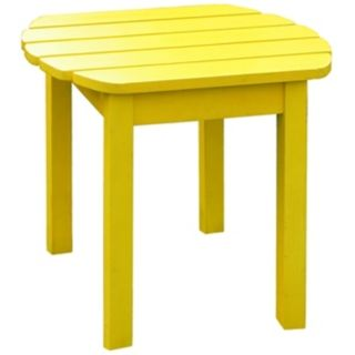 Yellow Finish Solid Wood Accent Table   #T4759