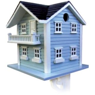 Two Story Light Blue Bird House   #H9616