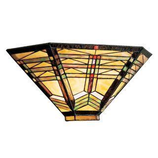 "Geometric Art Glass 16"" Wide Sconce   #82354"