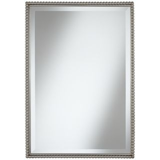 "Uttermost Sherise Beaded 31"" High Rectangular Wall Mirror   #X0558"