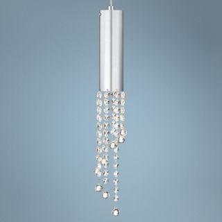 """Rainfall Crystal 18"""" High Chrome Mini Pendant Light   #W2732"""