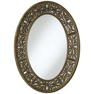 "Uttermost Francesco 36"" High Oval Wall Mirror   #R1767"