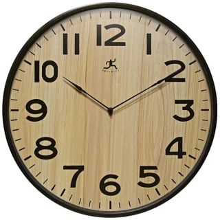 "Arbor II 21"" Round Light Wood Wall Clock   #W0993"