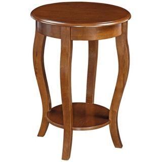 Peyton Cherry Round Wood End Table   #W2383