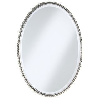 "Uttermost Brushed Nickel Sherise Oval 32 "" High Wall Mirror   #97306"