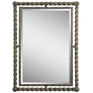 "Uttermost Garrick 35"" High Wrought Iron Wall Mirror   #W1631"
