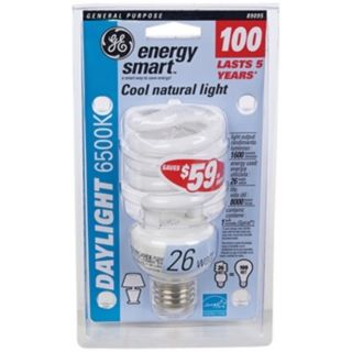 26 Watt Daylight 6500K CFL Twist ENERGY STAR Light Bulb   #35256