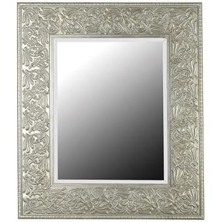 """Broussard Antique Silver 41"""" High Wall Mirror   #T5047"""