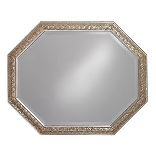 "Crete Antique Silver Octagonal 42"" Wide Wall Mirror   #03311"