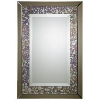 "Uttermost Zandrea 38"" High Smoked Glass Wall Mirror   #X7434"