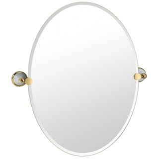 "Gatco Franciscan Oval 26 1/2"" High Tilting Wall Mirror   #P6545"