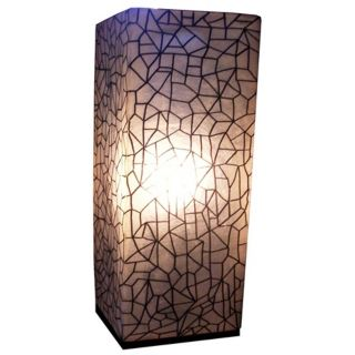 "Karo Crackle Painted Fiberglass 25"" High Table Lamp   #T8000"