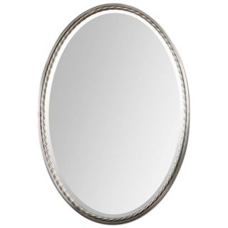 "Uttermost Casalina 32"" High Nickel Oval Wall Mirror   #Y1485"