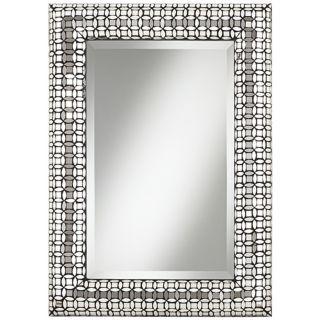 "Jewel Glass 33"" High Mosaic Wall Mirror   #W8600"
