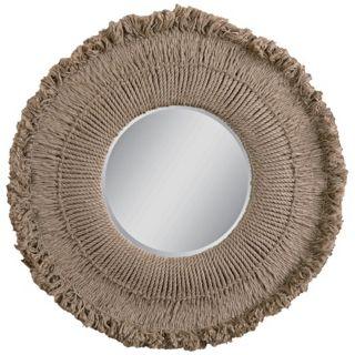 """Uttermost Ropa Vieja 39 1/2"""" Wide Round Wall Mirror   #R4149"""