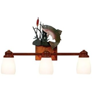 "Parkshire Collection Trout 22"" Wide Bathroom Light Fixture   #J0557"