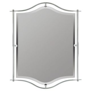 "Quoizel Demitri Silver 34"" High Wall Mirror   #89746"