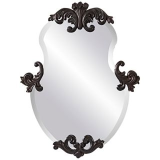 "Murray Feiss Venice 35"" High Bronze Wall Mirror   #X5733"