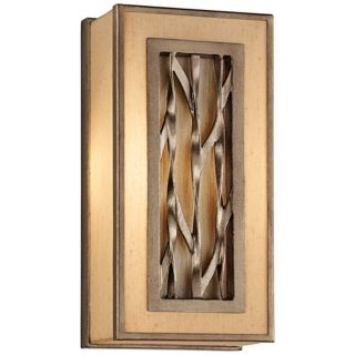 "Serengeti Square 6 1/2"" Wide Bronze Leaf Wall Sconce   #W4498"