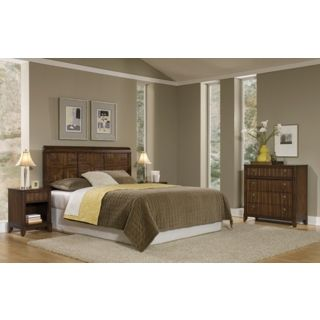 Paris Mahogany Queen Headboard Night Stand and Chest   #W3366