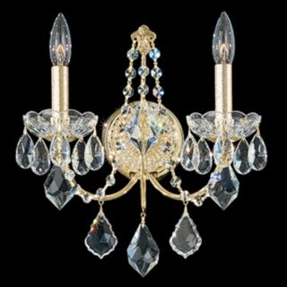"Schonbek Century Collection 14"" High Crystal Wall Sconce   #N1010"