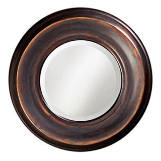 "Smooth Burnished Copper 33"" Wide Wall Mirror   #04713"