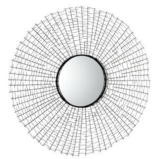 "Roxie 2 38 1/2"" Wide Round Iron Wall Mirror   #X7220"