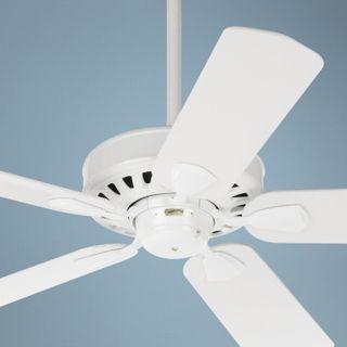 52 Quot Casa Chic Antique White Ceiling Fan With 4 Light Kit