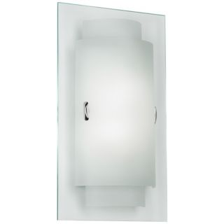 "Duplex 8 3/4"" Wide Frosted Glass Wall Sconce   #N9248"