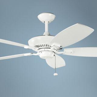 "52"" Canfield Kichler ENERGY STAR White Ceiling Fan   #K9889"