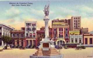 Estatua de Cristobal Colon San Juan Puerto Rico