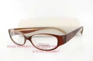 Coach Eyeglass Frames Bernice : Brand New COACH Eyeglasses Frames 844 BERNICE BROWN 51 ...