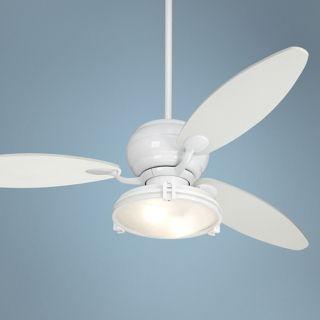 "60"" Casa Optima White Ceiling Fan with Light Kit   #R2182 R2443 81847"