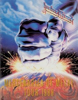 Judas Priest 1988 Mercenaries Tour Concert Program Book