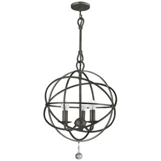 "Crystorama Solaris English Bronze 28"" Wide Pendant Light   #P6315"