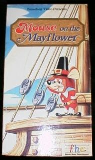 Rankin Bass Mouse on The Mayflower Thanksgiving VHS O0
