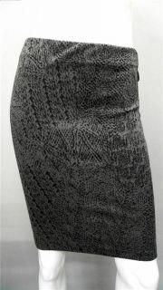 Xhilaration Junior s Pencil Below Knee Skirt Black Gray Black Animal