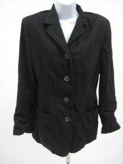 Junior Gaultier Black Safari Long Sleeve Jacket Coat 44