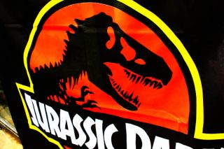Jurassic Park Movie Action Figures Sign Banner Flag B0003